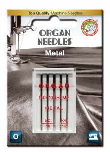 Igły ORGAN 130/705H-MF METAL do nici metalizowanych blister
